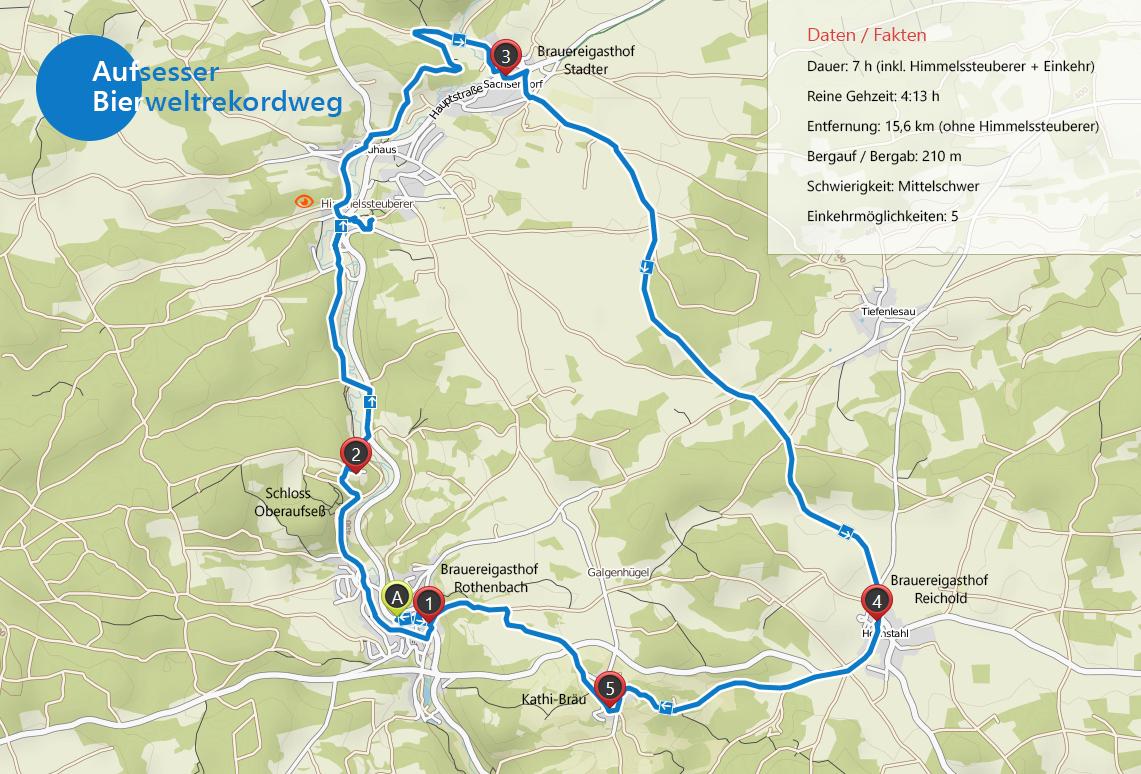 Aufsesser Bierweltrekordweg (Fränkische Schweiz)