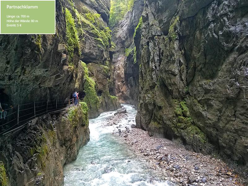 Die Partnachklamm – nur ein Highlight in der Zugspitzregion