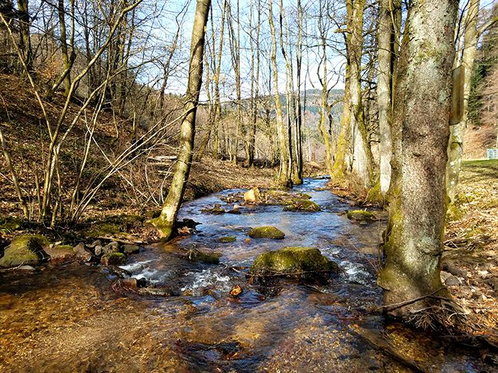 Zunächst immer dem Fluss entlang