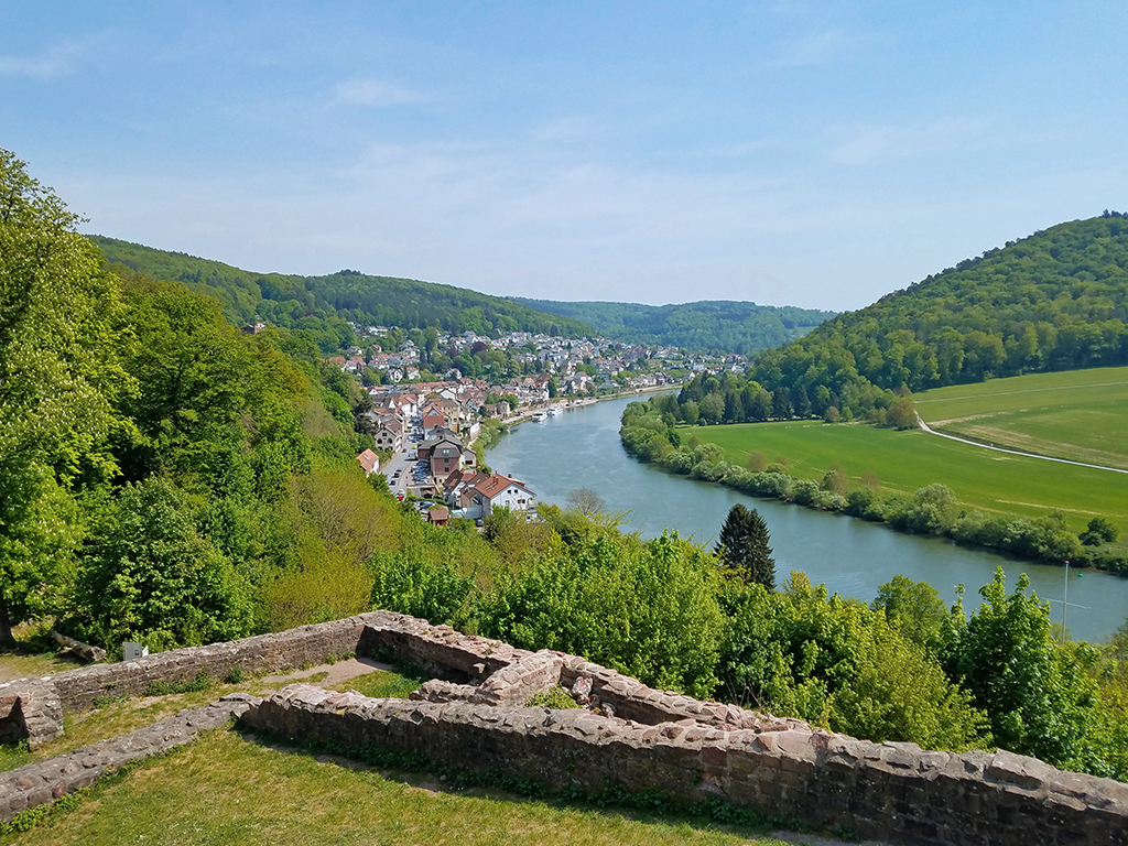 Blick von der Hinterburg ins Neckartal