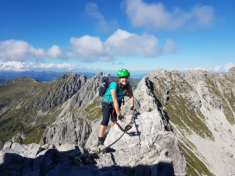 Auf dem Mindelheimer Klettersteig