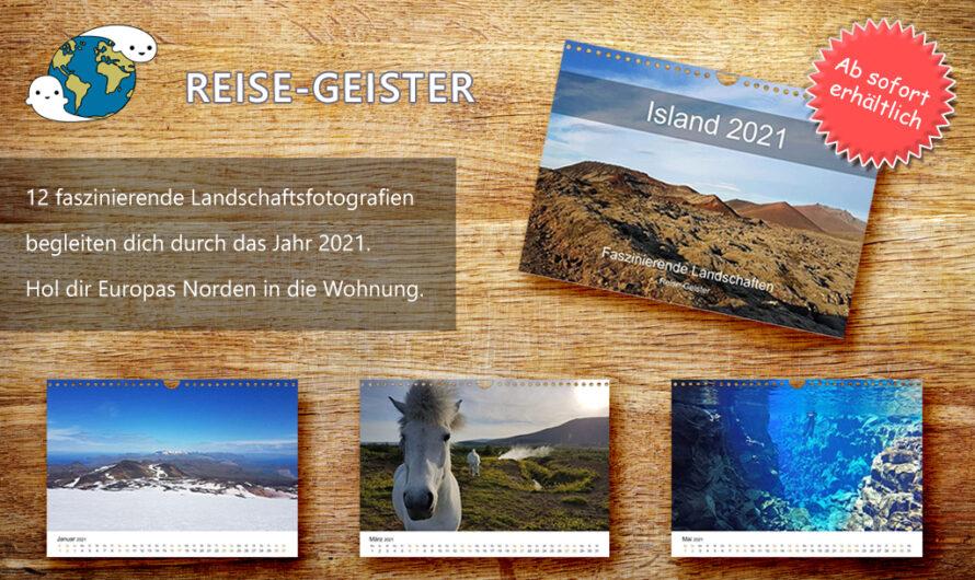 Island – Faszinierende Landschaften (Wandkalender 2021) ab sofort erhältlich bei Amazon
