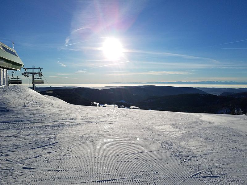 Snowboarden auf dem Feldberg