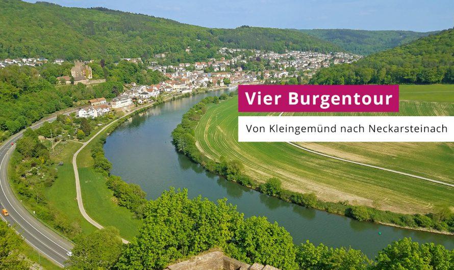 Vier Burgentour mit Blick auf das Neckartal